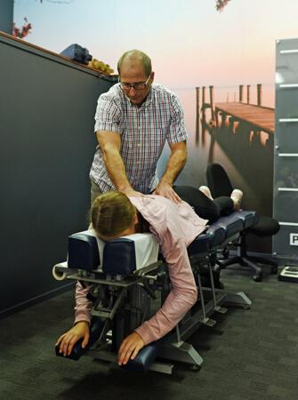 Dr Jeff adjusting a patient