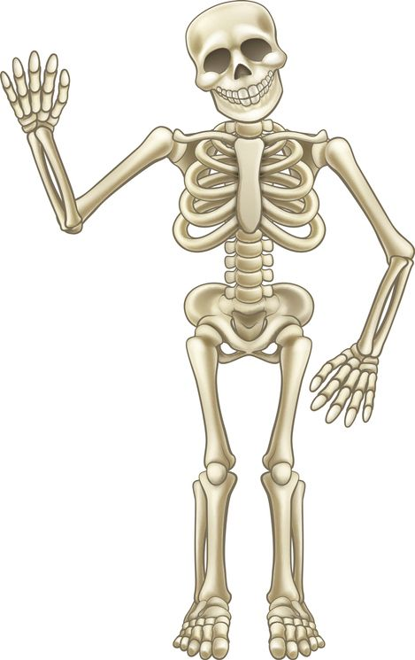 happy skeleton waiving