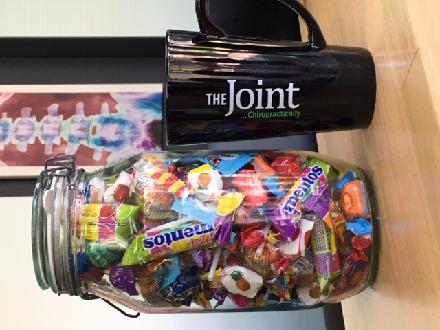 jar filled with candy