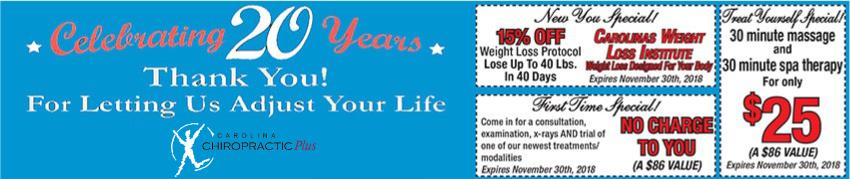 20 year anniversary banner