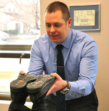 Dr. Ryan examining a patient