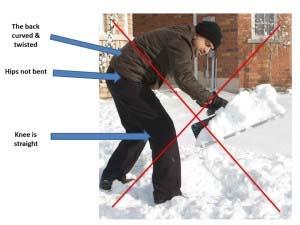 Snow shovel don't