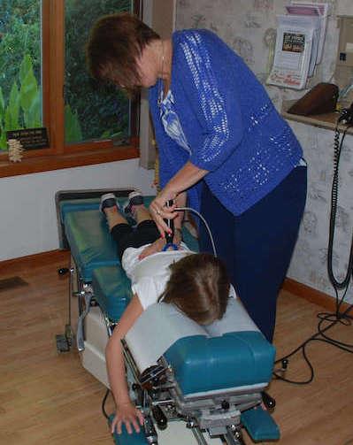 pediatric chiropractic adjustment