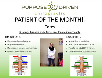 Patient of the Month Corey