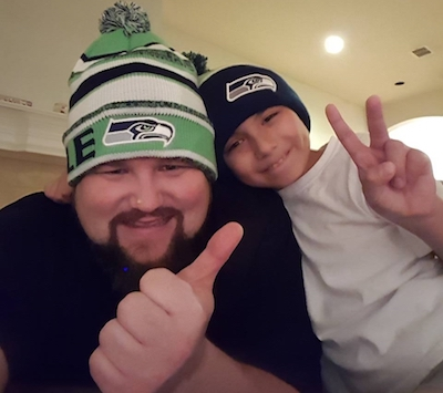 McKinney & Frisco Chiropractor, Dr. Justin, with his son