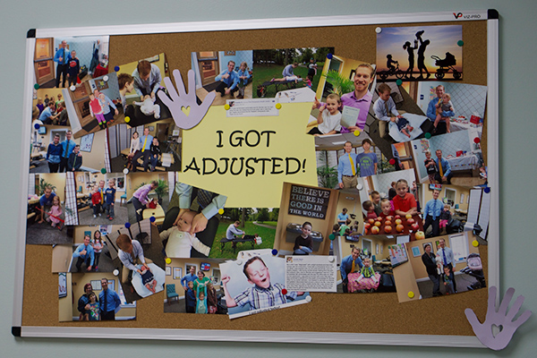Adjustment wall at The Chiropractic Health Center
