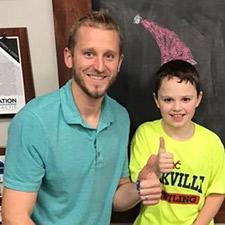 Mason and Dr. Gripp photo