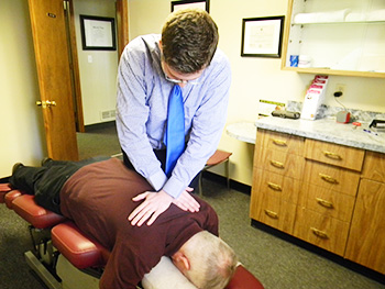 Chiropractic Adjustment at Evans Family Chiropractic