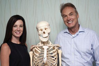 dr bannister, dr-coursen, and skeleton