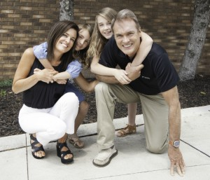 Dr. Coursen and her family