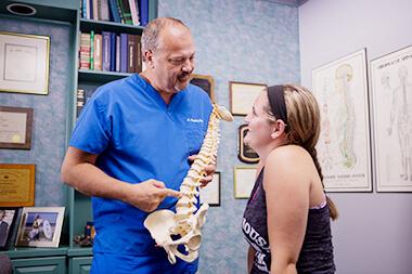 Dr. Bradley advises a patient