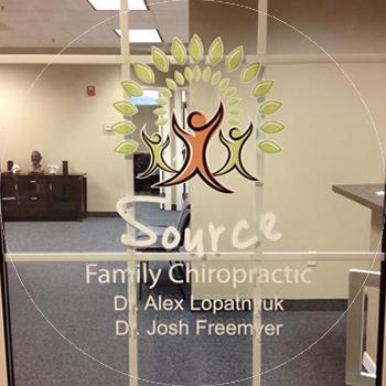 Source Family Chiropractic Door