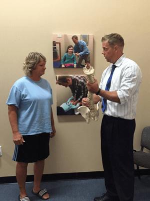 Dr Steigerwalt with Spine Model