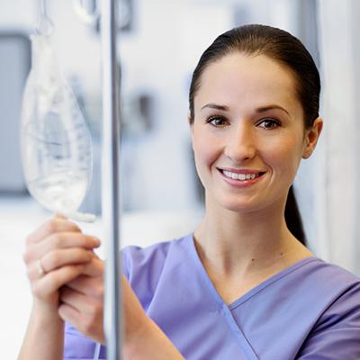 Nurse with an IV