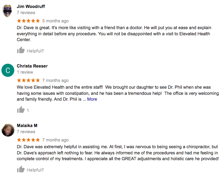 Picture of Google reviews