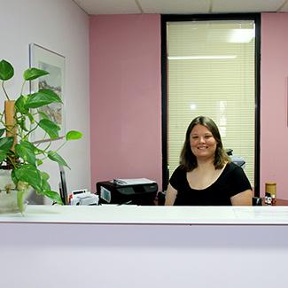 Koop Chiropractic Front Desk, Laura