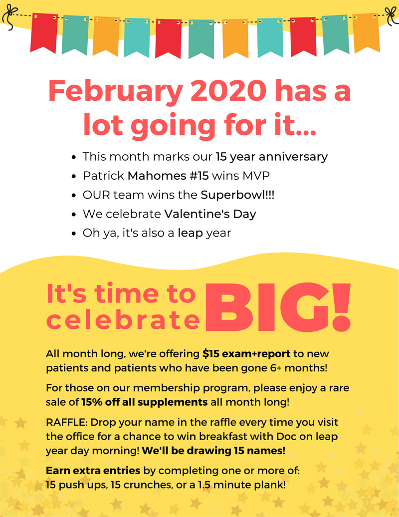 February 2020 events flyer