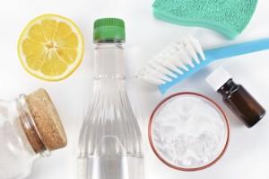 Natural cleaner. Vinegar, baking soda, salt, lemon