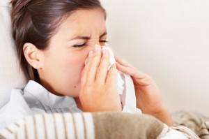 women sneeze