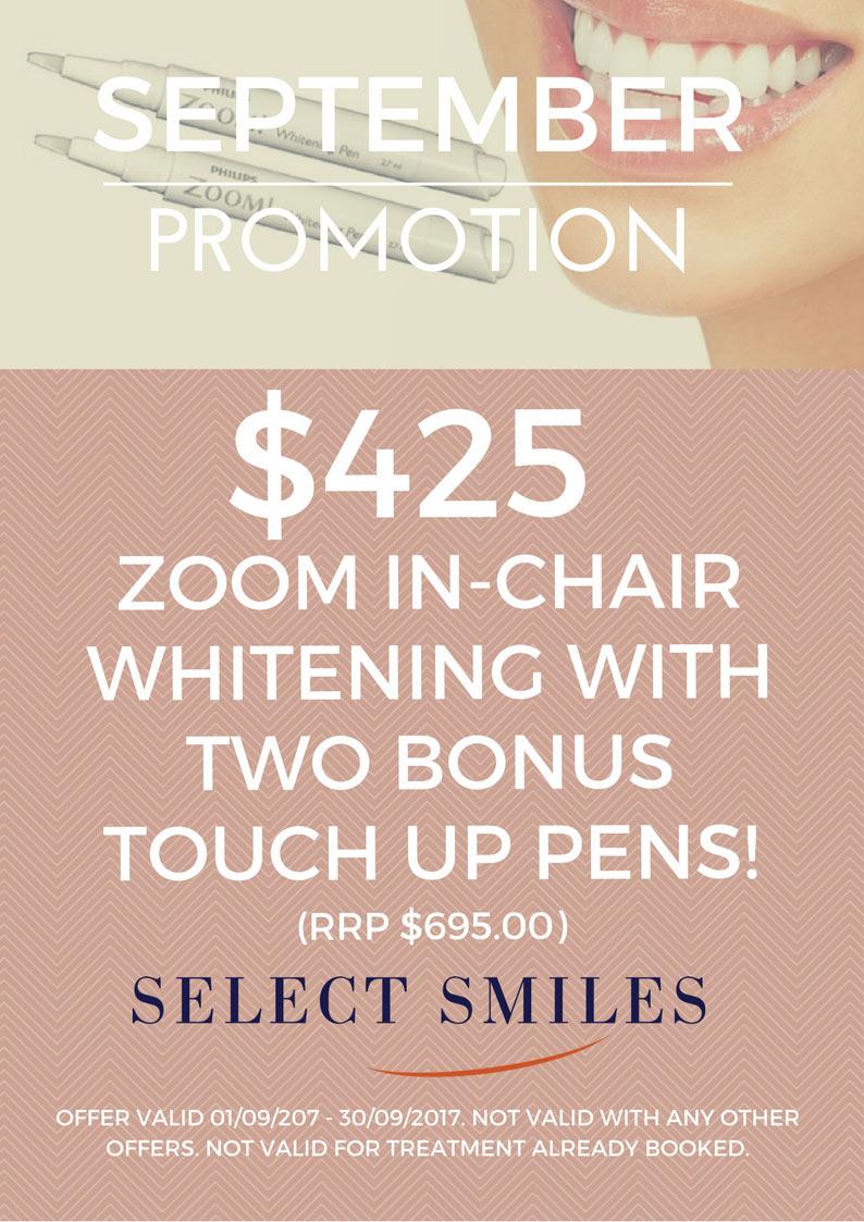 September special offer for teeth whitening