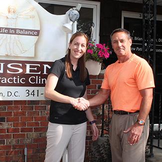 Dr. LaRocque with Dr. Jensen