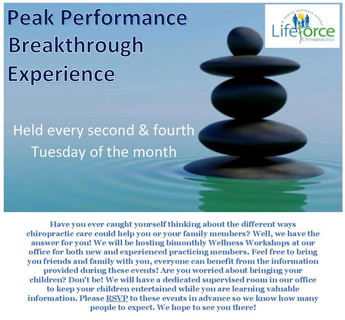 Peak Performance Event Info