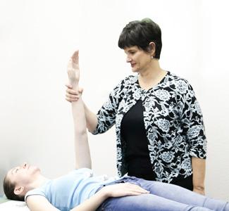 Dr. Sampair performing nutrition test