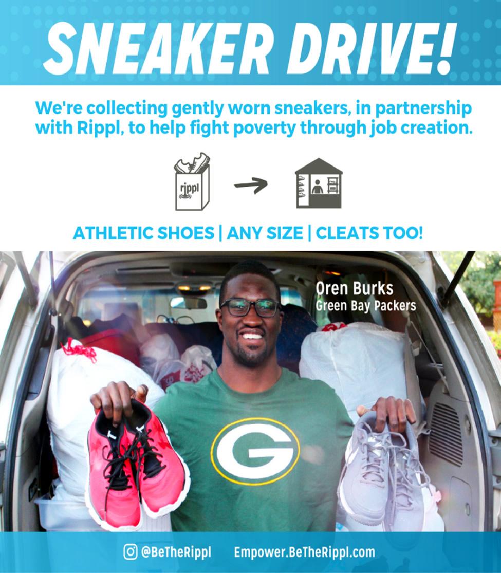 sneaker drive flyer