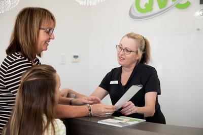 Lynette attending patient paperworks
