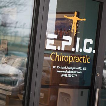 E.P.I.C. Chiropractic  Front Door