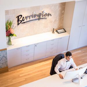Reception desk at Berrington