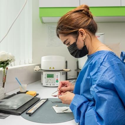 Specialist working in lab