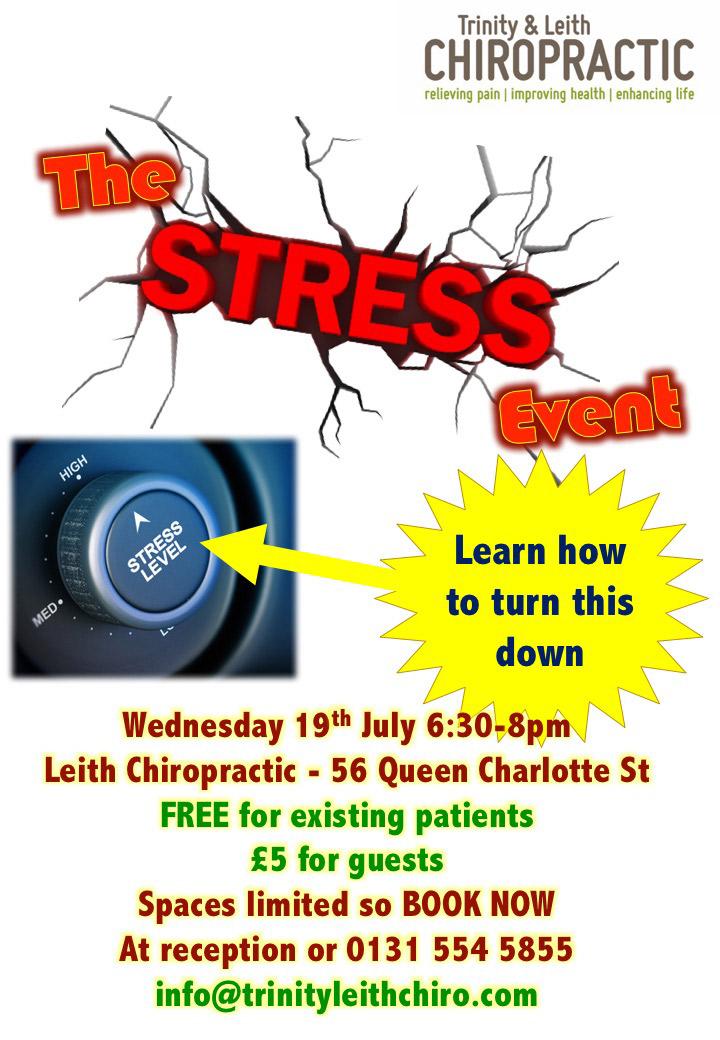 Stress event poster