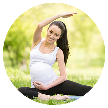 Pregnant Lady doing yoga