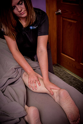 Patient getting leg massage