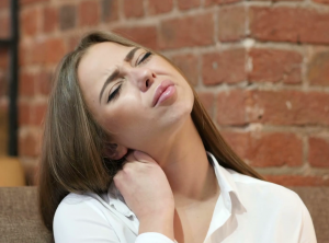 Disc injury in the neck causes pain