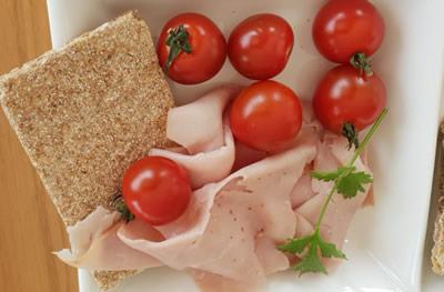 cherry tomatoes lean ham