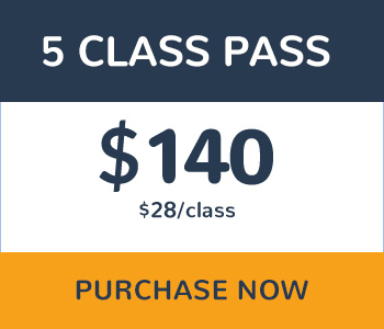 5 Class Pass $140 Purchase Now