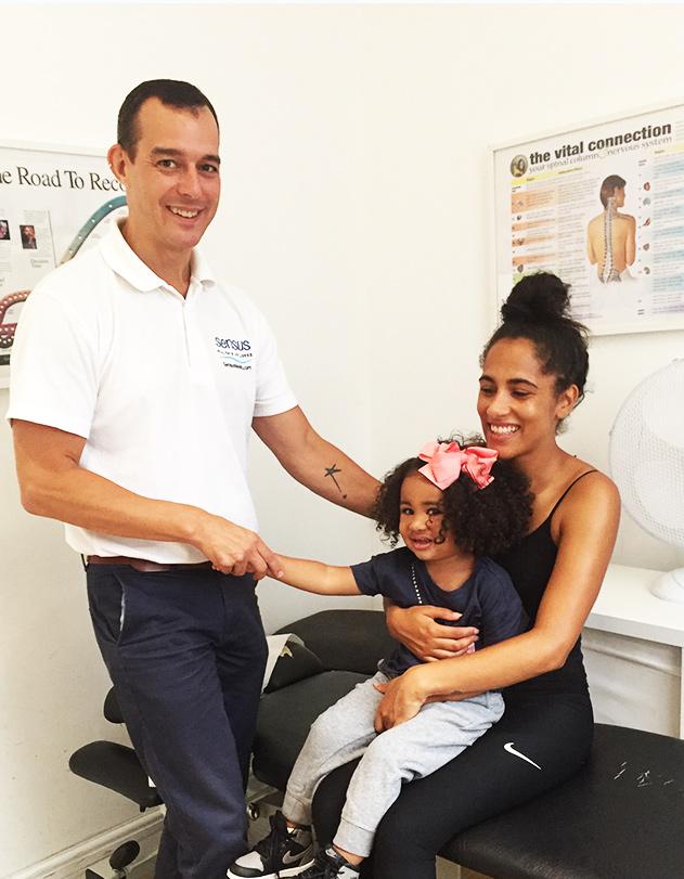 Dr Kris with patients