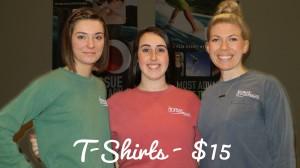 Pray Chiropractic team modeling shirts