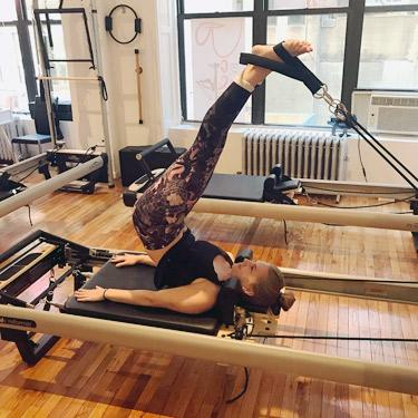 Dr. Shannon doing pilates