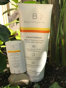Bottle of Beauty Counter sunscreen