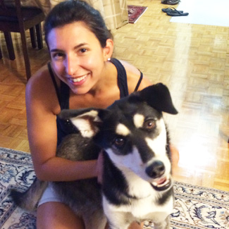 Dr. Donato and her husky