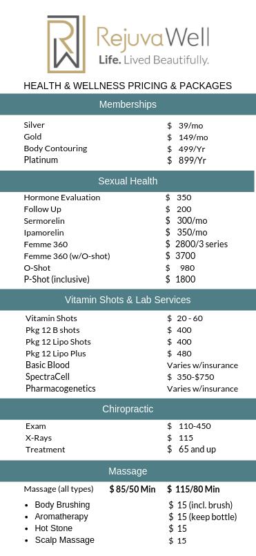 Price list July 2019