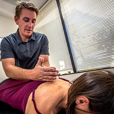 Dr. Scott adjusting