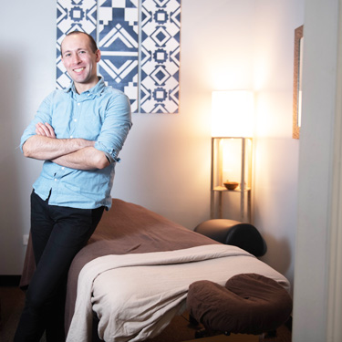 Paul in massage room