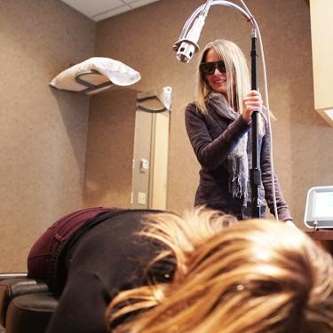 Patient getting Laser Treatment
