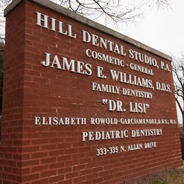 Hill Dental Studio sign