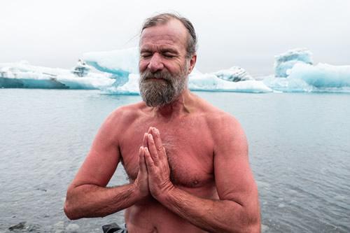 Wim Hof in Iceland 2019