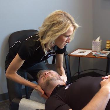 Dr. Rachel adjusting man